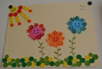 family flowers button art